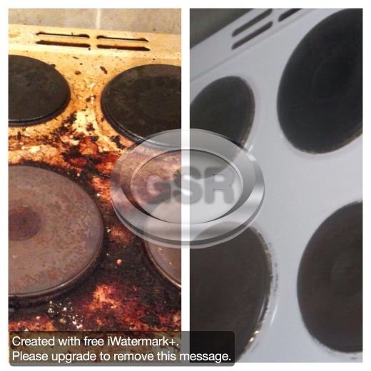 Before After Brunt Stove Cleaning