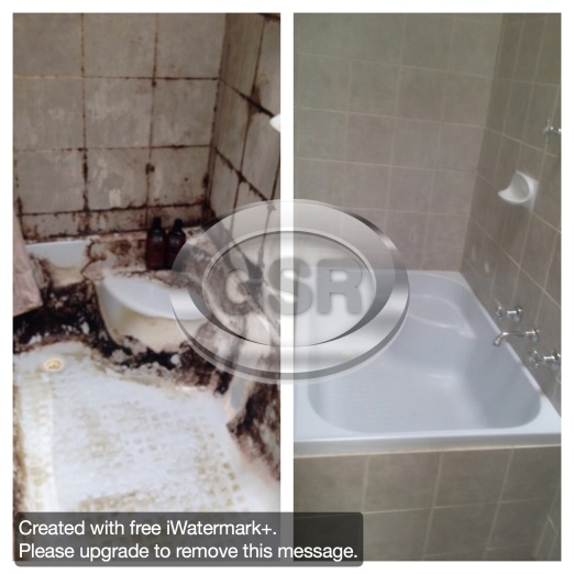 Before After Shower Tub Cleaning