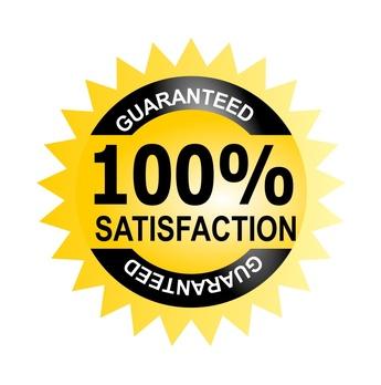 Seal 100% satisfaction guarantee